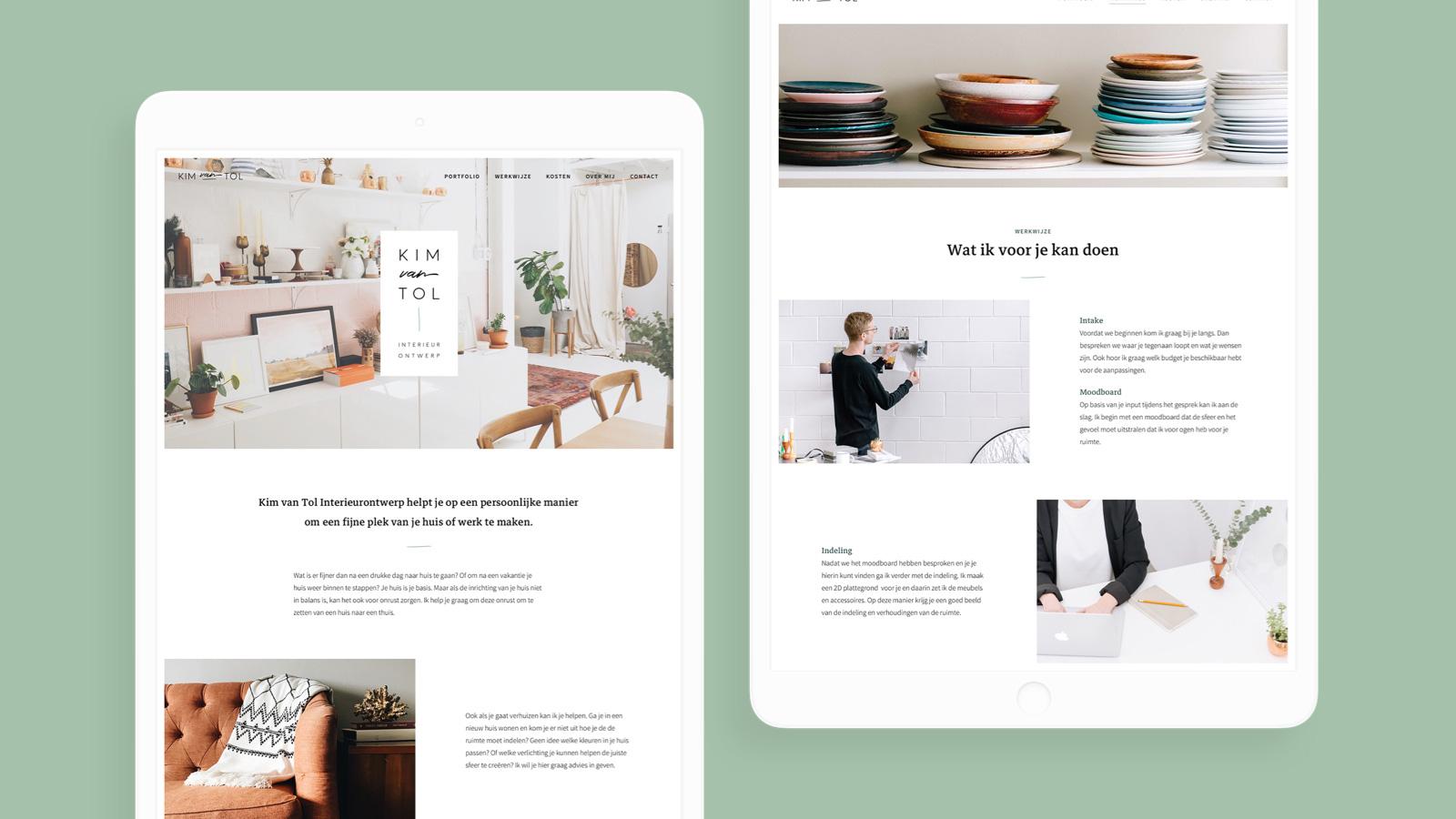 A versatile, minimal brand for interior designer Kim van Tol by Haelsum