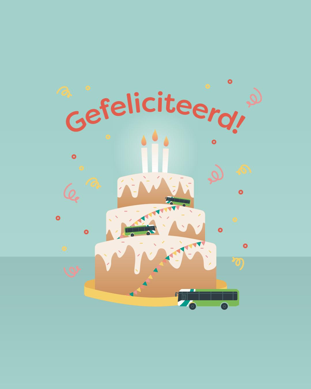 Custom greeting card for Arriva Netherlands by Haelsum