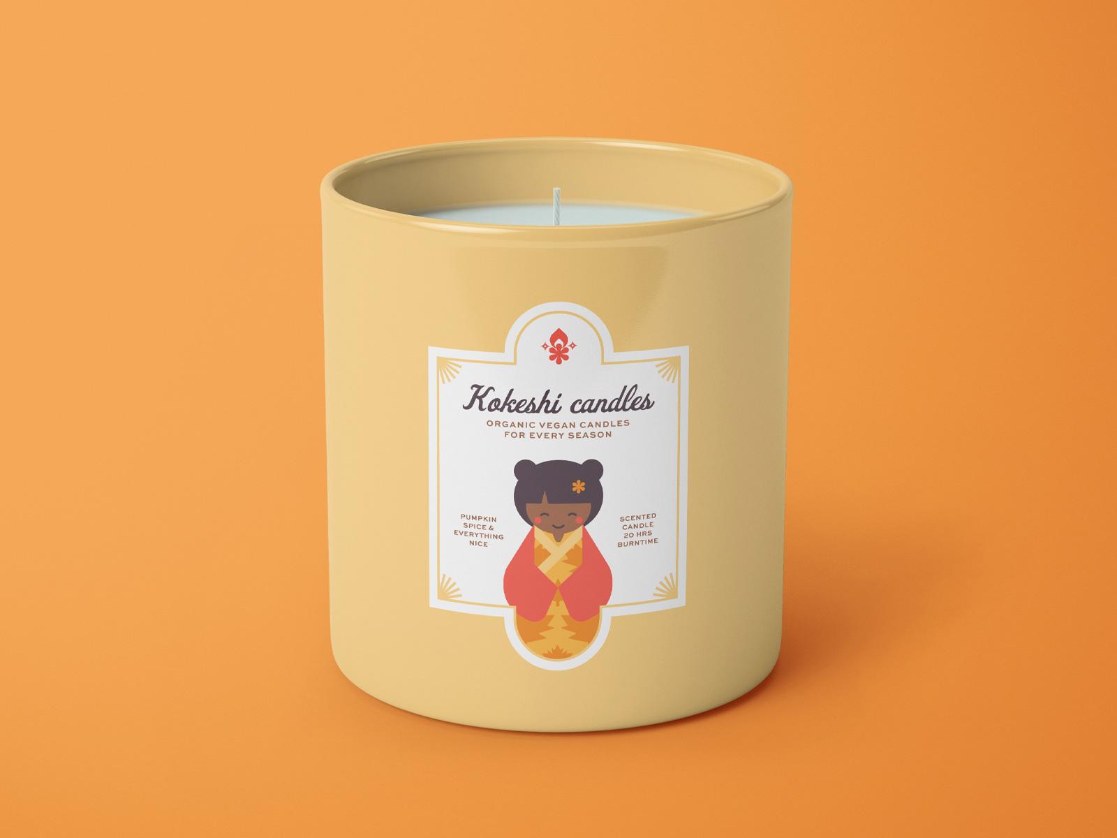 Kokeshi Candles