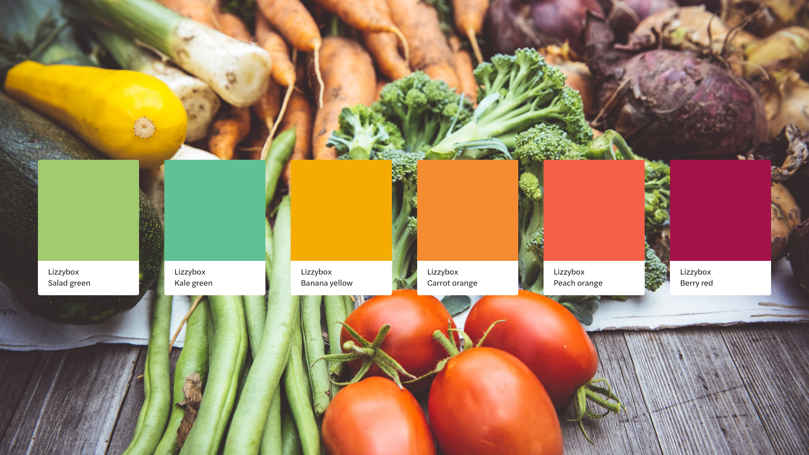 A colorful brand identity for getting healthy with Lizzybox
