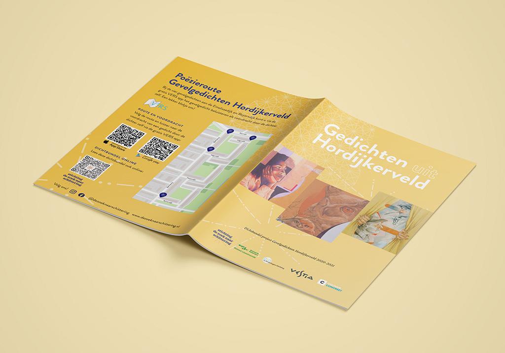 Design for poetry collection 'Gedichten uit Hordijkerveld'