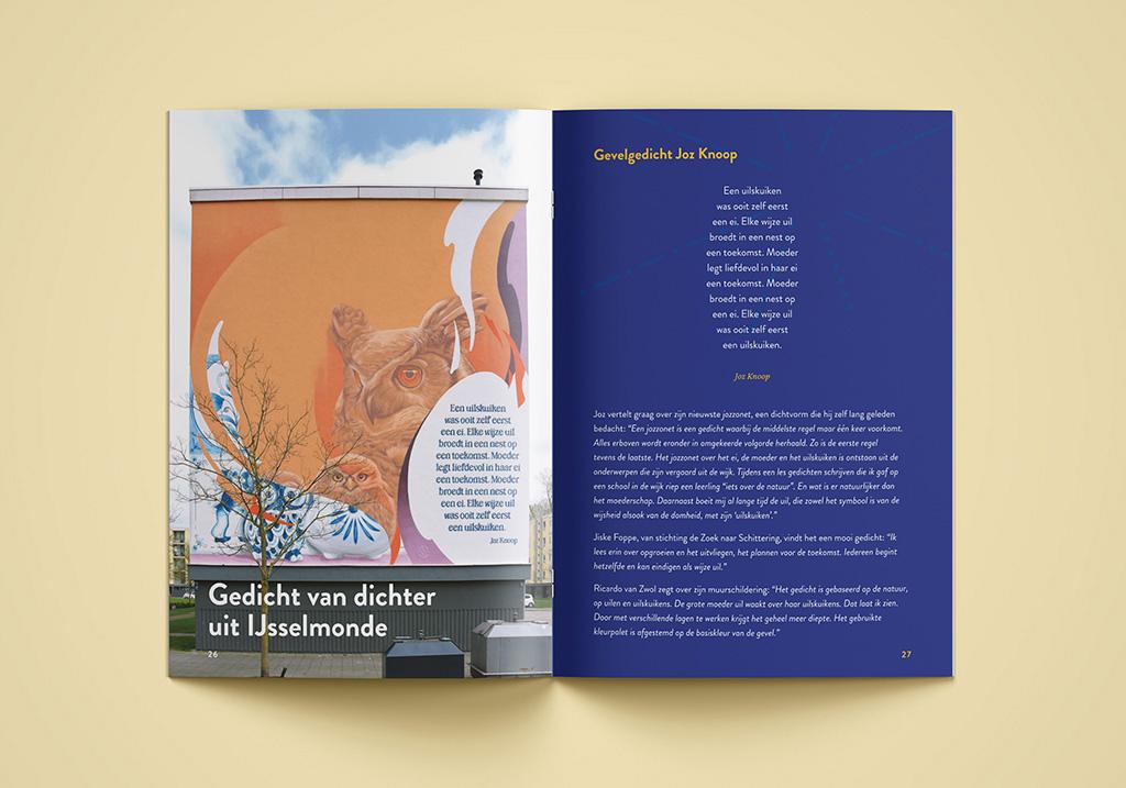 Cover design for poetry collection 'Gedichten uit Hordijkerveld'